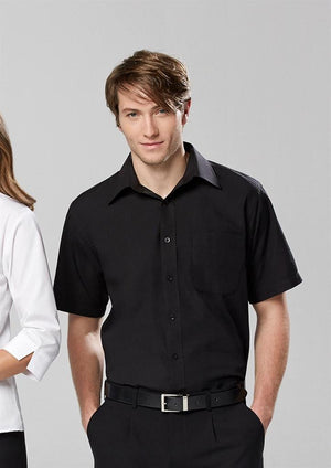 Biz Collection Mens Base Short Sleeve Shirt (S10512)