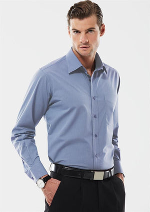 Biz Collection Mens Chevron Long Sleeve Shirt (S122ML)