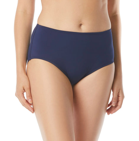 Beach House Chloe High Waisted Bikini Bottom - Beach Solids SKU H58433 BLACK & NAVY