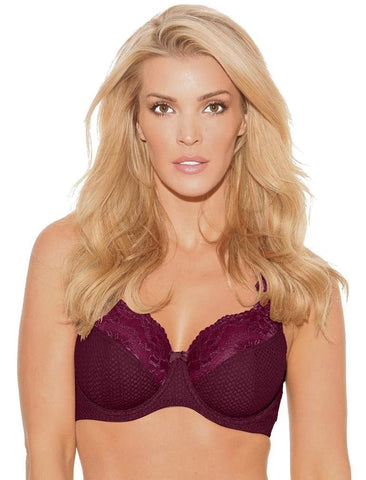 FIT FULLY YOURS SERENA LACE B2761 BURGUNDY