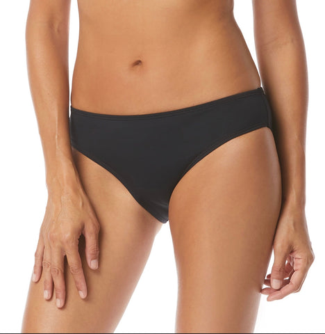 Beach House Surface Bikini Bottom - Beach Solids BLACK & NAVY H47894