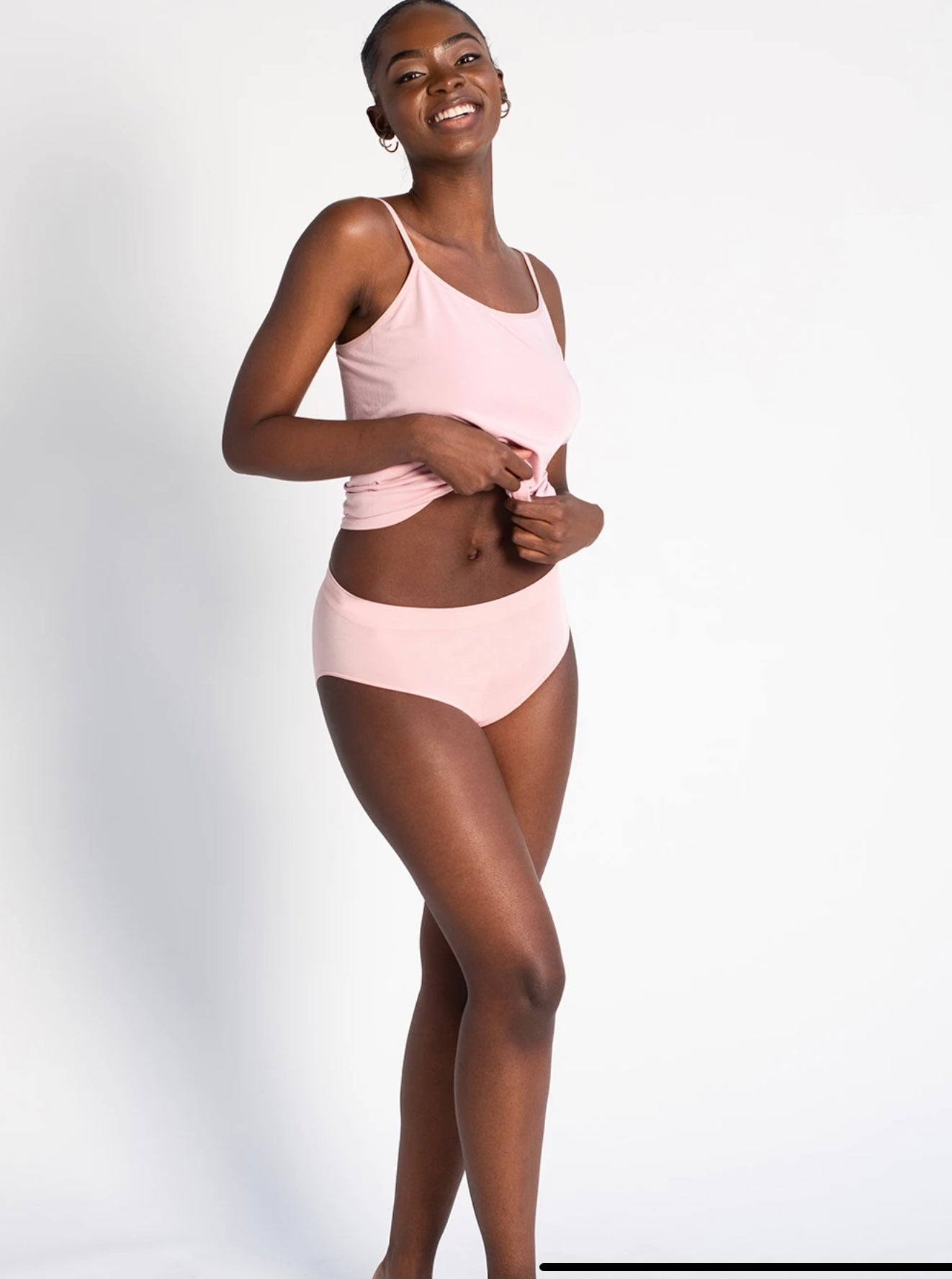LNBF High Waisted Full brief BAMBOO 4006  PINK, NUDE AND BLACK AVAILABLE