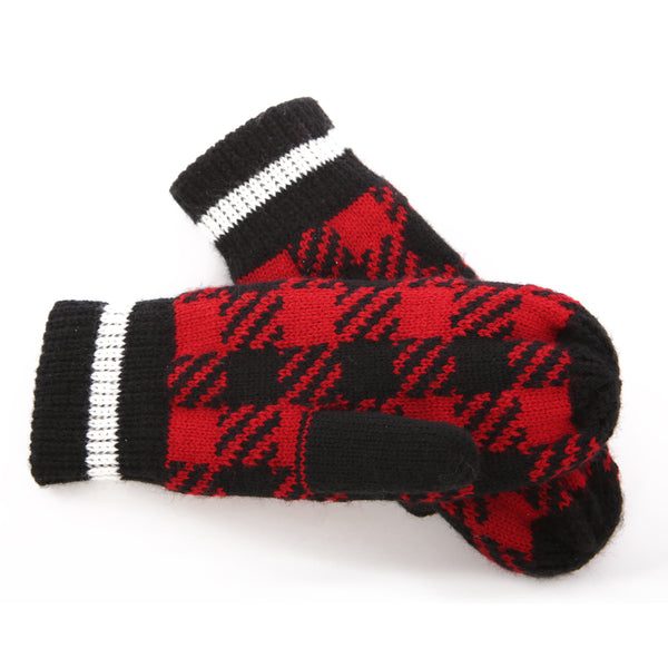 SiMl BUFFALO CHECK WINTER MITTENS 08485
