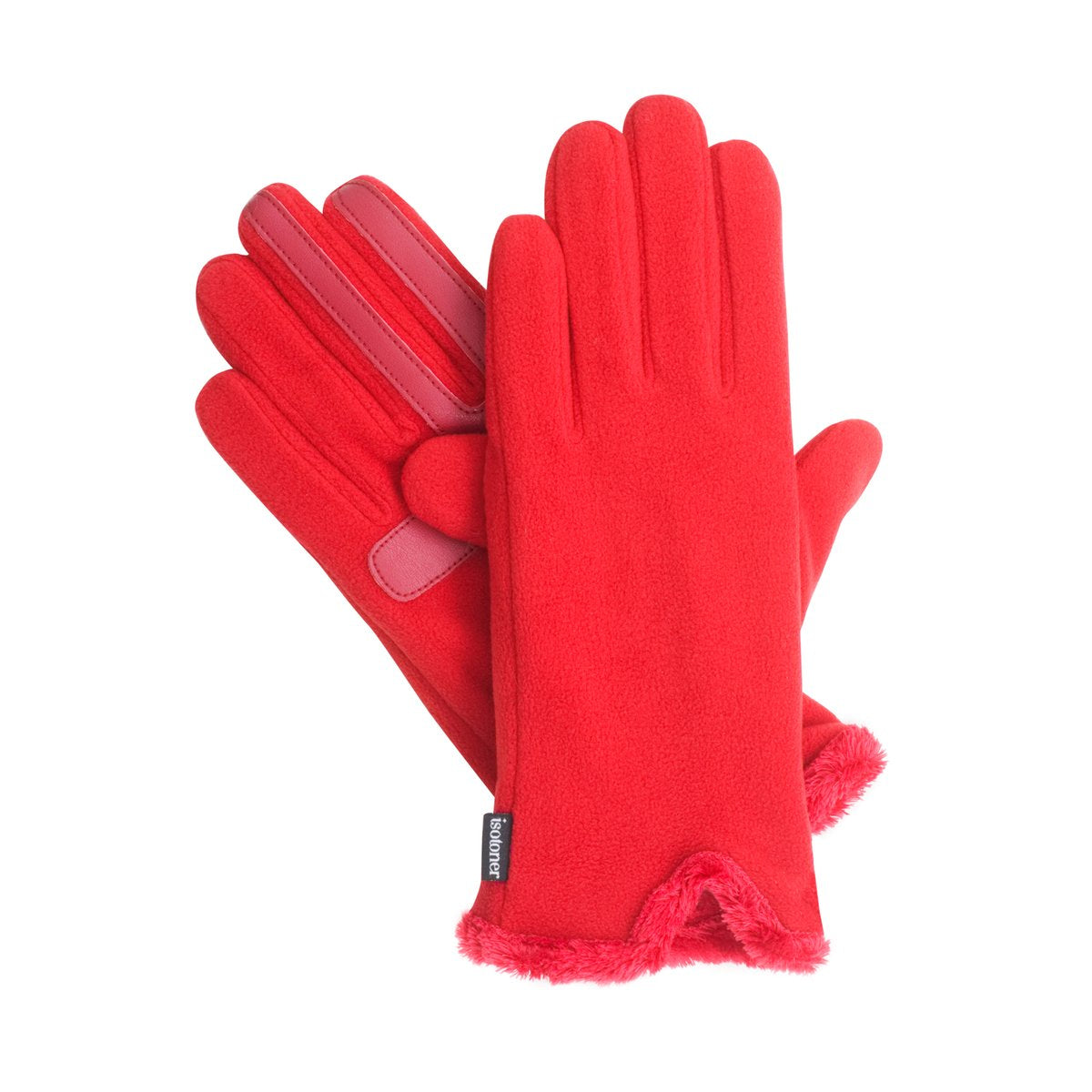 Isotoner Women's SmarTouch Stretch Fleece Gloves with SmartDri 30124 RED