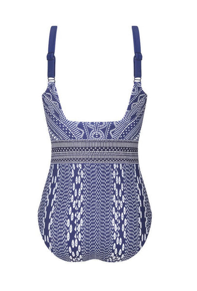 Amoena Bohemian Chic Half-Bodice Swimsuit - water blue 71431 DD cup