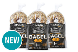 O DOUGHS MULTIGRAIN BAGEL THINS EVERYTHING