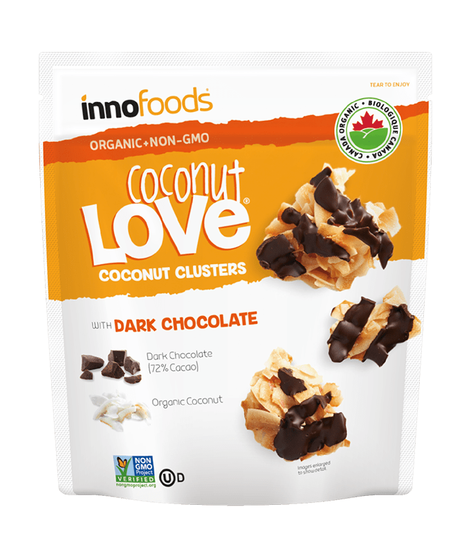 COCONUT LOVE- Chocolate coconut clusters