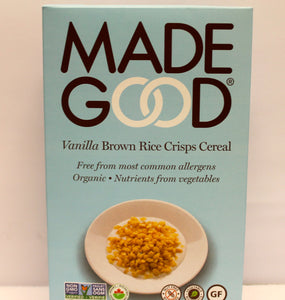Made Good -Crispy Rice Cereal -Vanilla