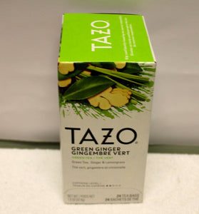 GREEN GINGER TAZO TEA BAGS- 24 BAGS