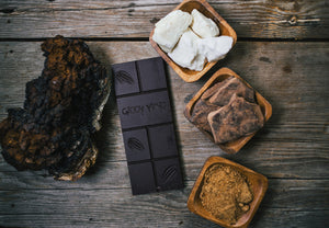 GIDDY YOYO CHAGA 79% DARK CHOCOLATE BAR