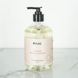 Body & Hand Soap -Almond Flower- PURE BIO