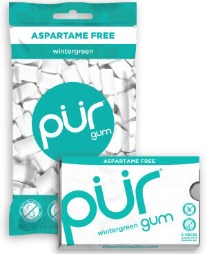 PUR Gum WINTERGREEN -9 piece Blister pack
