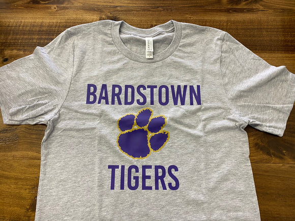 Gray Bardstown Tigers Tee