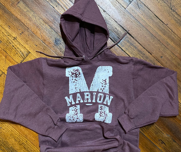 Distressed Marion M Hooded Sweatshirt