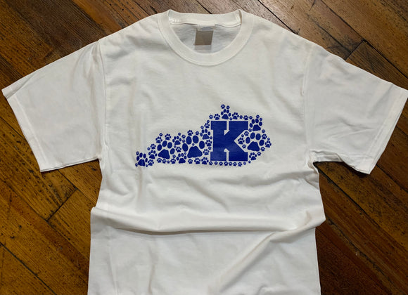 Kentucky K Paw Outline Tee