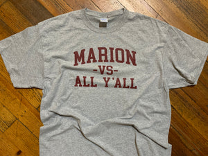 Marion vs. All Y'all tee