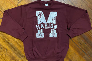 Distress Marion M Crewneck Sweatshirt