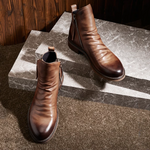 Crimto - Casual Leather Boots