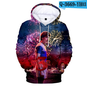 2019 Hot Men's Hoodie Stranger Things Season 3 Sweatshirt TV series Stranger Things 3D Print Winter Warm Hoodies 4XL