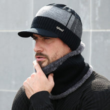 Load image into Gallery viewer, 2019 Winter Hats For Men Skullies Beanie Hat Winter Cap Men Women Wool Scarf Caps Set Balaclava Mask Gorras Bonnet Knitted Hat