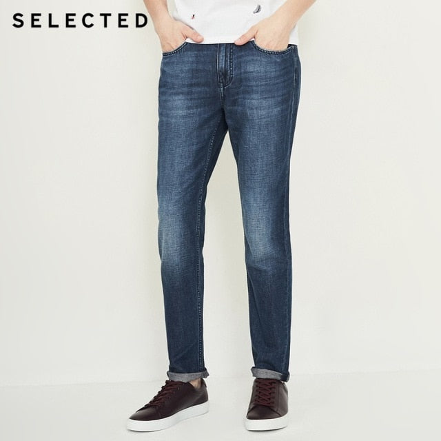 SELECTED Men Jeans Modis Cotton & Linen Do Old Edge Grinding Prewashed Male Casual Denim Pants C | 418332513