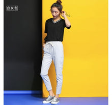 Load image into Gallery viewer, 2019 Chic Leisure Cotton Linen Long Pants Women Elastic Waist Pockets Loose Pants Plus Size 2XL Casual Trousers Leisure Pants
