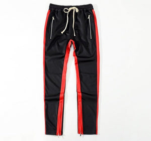 Block Patchwork Stripe Harem Pants Mens 2018 Autumn Casual Zipper Pockets Joggers Sweatpants Male Cotton Ankle zipper trousers