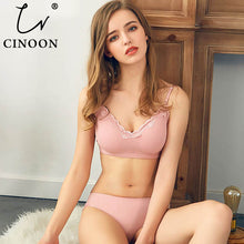 Load image into Gallery viewer, CINOON 2019 New Women Fashion Cotton Lingerie Wireless Bras For Women Push Up Bra Set comfortable Sexy Underwear Free Shipping