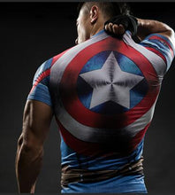 Load image into Gallery viewer, Short Sleeve 3D T Shirt Men T-Shirt Male Tee Captain America Superman tshirt Men Fitness Compression Shirt Punisher MMA