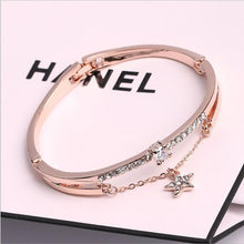 Load image into Gallery viewer, Luxury Famous Brand Jewelry Rose Gold Stainless Steel Bracelets & Bangles Female Heart Forever Love Charm Bracelet For Women