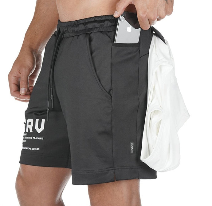 Summer's New men's running shorts are fast drying and breathable with multiple pockets for running training and five-minute pant