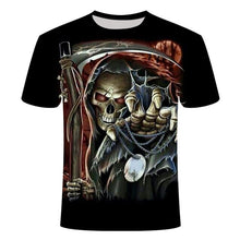Load image into Gallery viewer, Drop Ship Summer NewFunny skull 3d T Shirt Summer Hipster Short Sleeve Tee Tops Men/Women Anime T-Shirts Homme Short sleeve tops