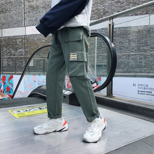 Load image into Gallery viewer, Privathinker Men Vintage Cargo Pants 2019 Mens Hiphop Khaki Pockets Joggers Pants Male Korean Fashion Sweatpants Winter Overalls
