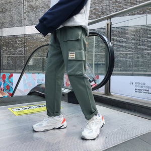 Privathinker Men Vintage Cargo Pants 2019 Mens Hiphop Khaki Pockets Joggers Pants Male Korean Fashion Sweatpants Winter Overalls