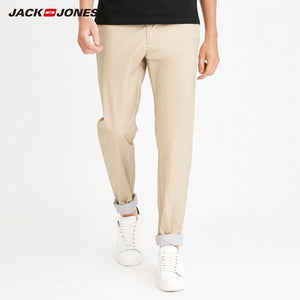 JackJones Men's Autumn Stretch Cotton Slim Fit Casual Pants Menswear 218214504