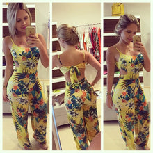 Load image into Gallery viewer, Women Clubwear Summer Bodycon Party Jumpsuit Romper Trouser Ladies Fit and Flare Floral Bandage Jumpsuits Female Clothing