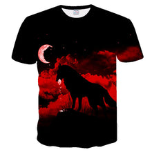 Load image into Gallery viewer, 2019 Men's New Summer Personalized T-Shirt Wolf Print T-Shirt 3D Men's T-Shirt Novelty Animal Tops T-Shirt Men's Short Sleeve