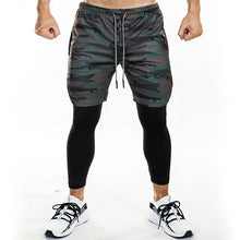 Load image into Gallery viewer, FRMARO 2019 new sports pants men's quick dry leave 2 pieces of 9-point outdoor running pants European and American fitness pants