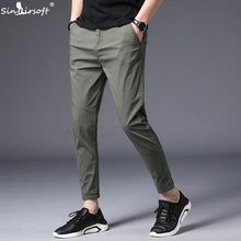 Load image into Gallery viewer, Ankle Length Causal Harem Casual Pants Trousers Men Male Solid Slim Straight Business Classic Man Trouser Pantalon Homme Hombre
