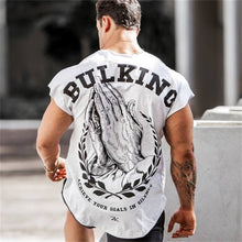 Load image into Gallery viewer, Mens Fitness T-shirt Gyms Bodybuilding Workout Skinny Short sleeve Cotton t shirt Summer Male Casual Tee Tops Clothing