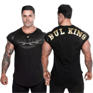 Mens Fitness T-shirt Gyms Bodybuilding Workout Skinny Short sleeve Cotton t shirt Summer Male Casual Tee Tops Clothing