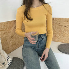 Load image into Gallery viewer, BOBOKATEER Pink Knitted Sweater Women Clothes Black Slim Pullover Tops Casual White Winter Thin Sweaters Pull Femme Autumn 2019