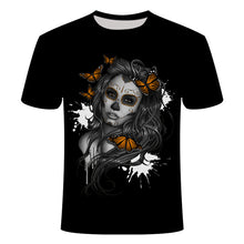 Load image into Gallery viewer, 2018 NEW 3d skull poker funny t shirts Men HOT Brand Mens Casual 3D Printed T shirt Men Clothes tshirt summer top Asian size
