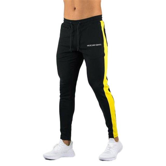 ENJPOWER New Men Pants Hip Hop Fitness clothing Joggers Sweatpants Side stripe classic fashion Streetwear Track Pants Trousers