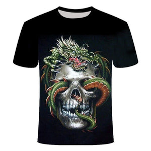 Drop Ship Summer NewFunny skull 3d T Shirt Summer Hipster Short Sleeve Tee Tops Men/Women Anime T-Shirts Homme Short sleeve tops