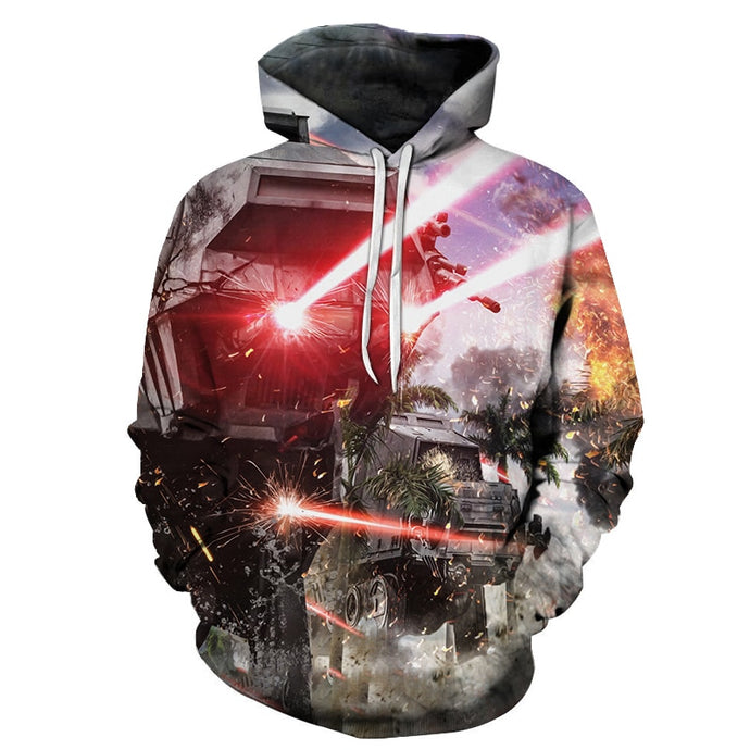 Tank Fight 3D Print Sweatshirts Men Hoodies Tracksuit  Pullover Autumn Winter Hoody Hooded Coat Brand 6XL Drop Ship ZOOTOP BEAR