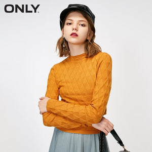 ONLY autumn new half-high collar long-sleeved sweater slim  |  118324538
