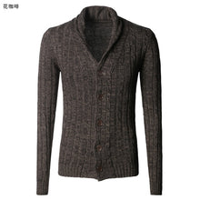 Load image into Gallery viewer, Men's sweater cardigan long sleeve cardigan sweater jacket J281-2