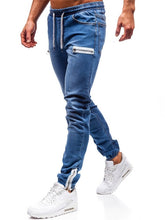 Load image into Gallery viewer, 3 Styles Men Stretchy Skinny Biker Slim Fit Denim Men Multi-pocket zipper pencil Pants men casual jeans fashion Casual Trousers