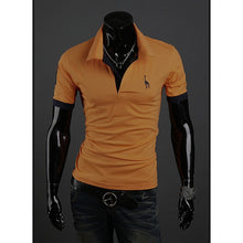 Load image into Gallery viewer, Summer Men's Polo Multi-Color Deer 85% polyester 15% Cotton Polo Shirt Men's Short Sleeve Slim Business Casual Solid Fit Tops